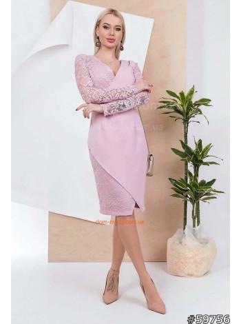 Платье женское со вставками из гипюра