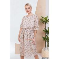 Женское летнее шифоновое платье с поясом