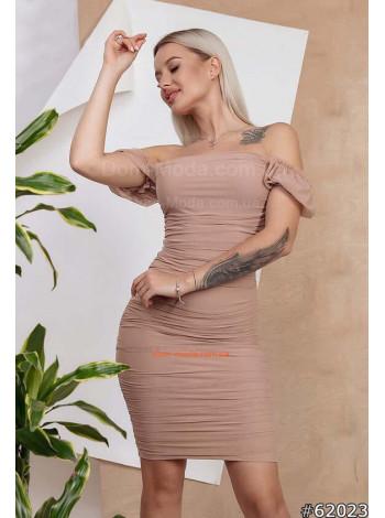 Стильне коротке міні плаття з відкритими плечима