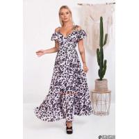 Красиве літнє плаття з запахом довге