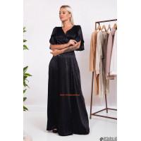 Шелковое платье в пол с пышной юбкой