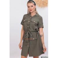 Короткое платье рубашечного стиля
