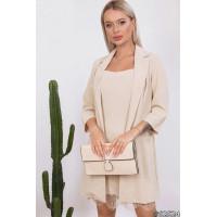 Стильний комплект плаття з подовженим піджаком