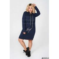 Молодежная женская туника платье в спортивном стиле большого размера