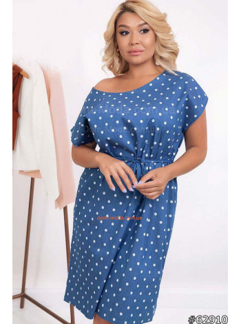Джинсове літнє плаття великого розміру