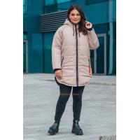 Асимметричная женская куртка большого размера