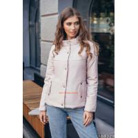 Модна жіноча укорочена куртка на силіконі
