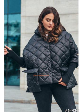 Куртка великого розміру з накладними кишенями