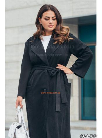 Жіноче модне пальто тренч з поясом великого розміру