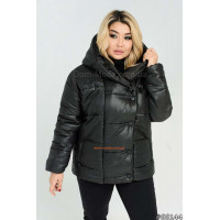 Коротка зимова куртка на силіконі батал