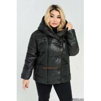 Короткая зимняя куртка на силиконе батал