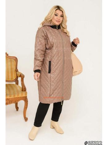 Женская удлиненная куртка весна осень большого размера 56
