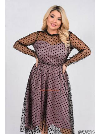 Коктейльне плаття для повних