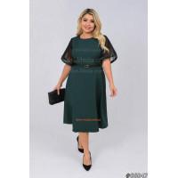 Красиве жіноче плаття з поясом для повних жінок
