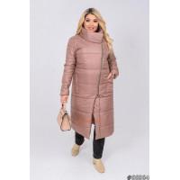 Женская удлиненная зимняя куртка большого размера
