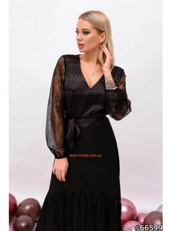 Жіноча коктейльна сукня з мереживом