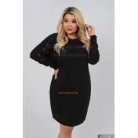Женское теплое платье с длинным рукавом