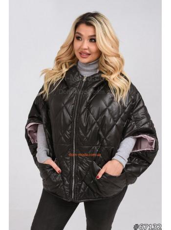 Женская короткая куртка из плащевки и укороченным рукавом