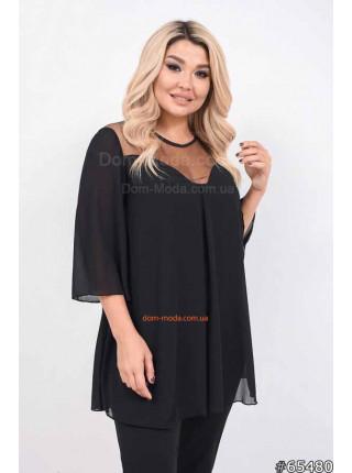 Нарядна блуза великого розміру