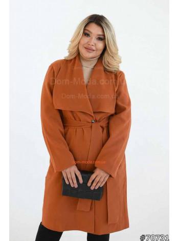 Женское модное осеннее пальто большого размера