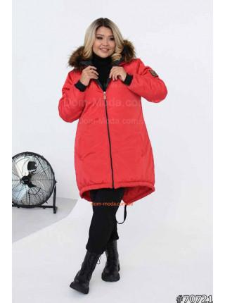 Зимняя куртка для полных женщин
