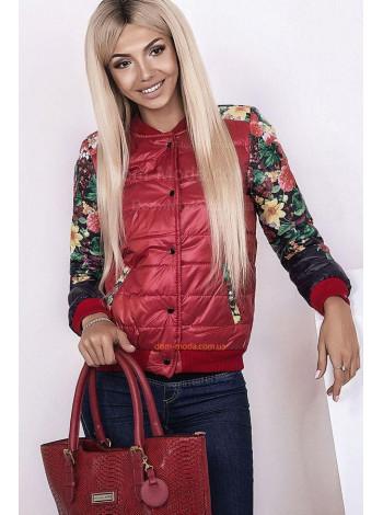 Женская модная короткая куртка «Цветы»