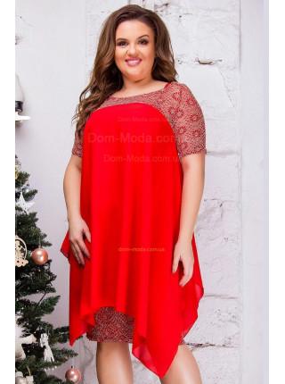 Короткое красивое платье для пышных девушек