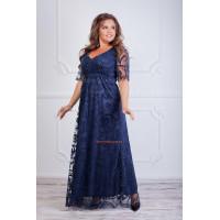 Нарядное макси платье черного,бордового и синего цвета