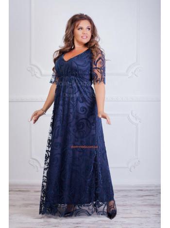 Нарядне максі плаття чорного, бордового і синього кольору