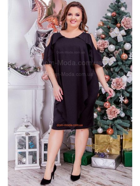 Модное вечернее короткое платье для девушек с формами