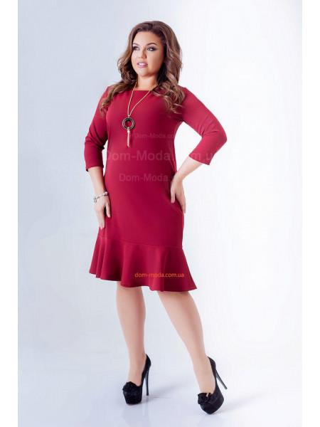 Жіноче плаття великого розміру із воланом