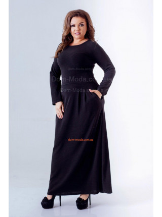 Довге жіноче плаття для повних із трикотажу ангора