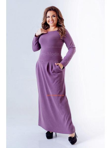 Довге жіноче плаття для повних із трикотажу ангора ... 222ff54494cdc