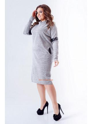 ... Плаття гольф зі вставками шкіри для повних дівчат 30d4597635cfd