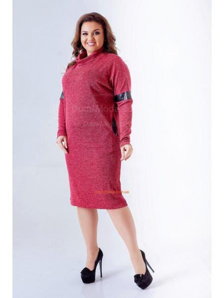 Плаття гольф зі вставками шкіри для повних дівчат ... 50606ecf06c2e