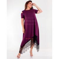 Женское красивое платье с разрезами на рукавах большого размера