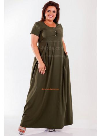 Длинное платье женское для пышных женщин