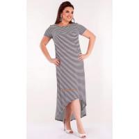Жіноче літнє плаття асиметричне із невеликим рукавом