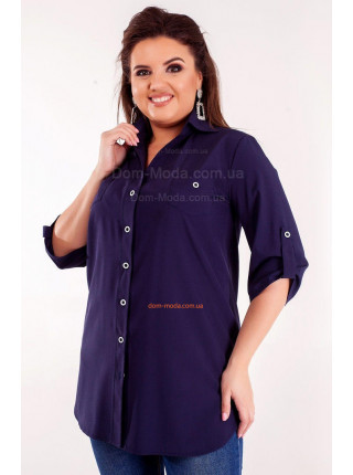 Жіноча літня рубашка із рукавом для повних