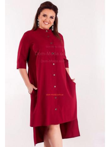 Жіноче асиметричне плаття рубашка великого розміру