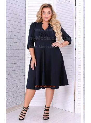 Модное пышное платье с декольте для полных