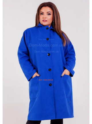 Женское кашемировое пальто на пуговицах для полных женщин