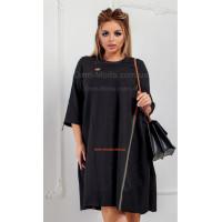 Модное короткое платье over size большого размера