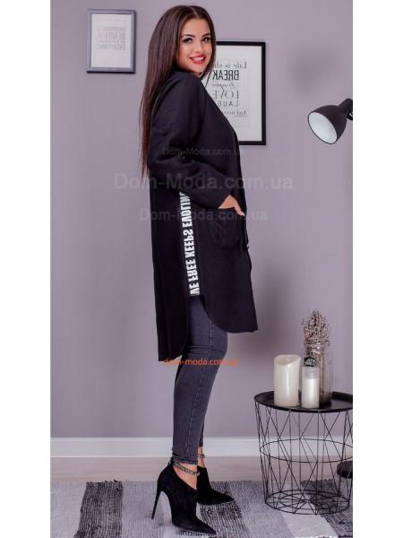 Стильное пальто кардиган на пуговицах большого размера