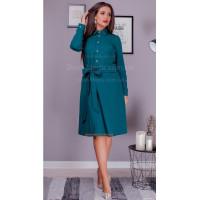 Красиве жіноче плаття рубашка із поясом для повних