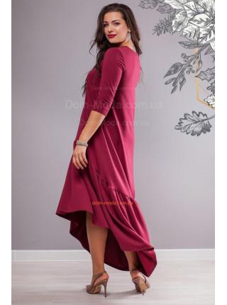 Женское трикотажное платье с воланом для полных девушек