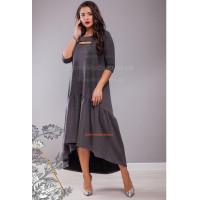 Жіноча трикотажна сукня із воланом для повних дівчат