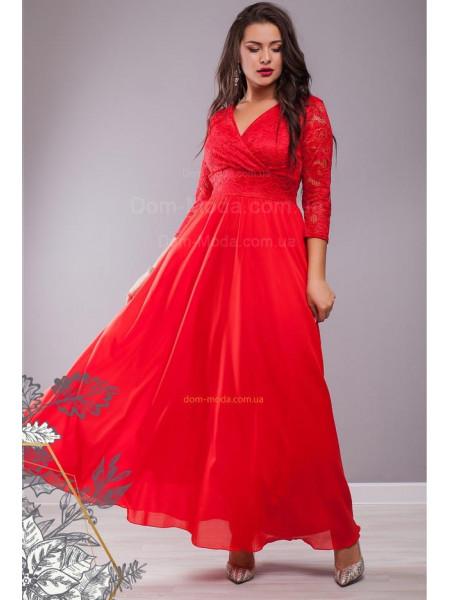 Жіноче вечірнє максі плаття із глибоким декольте великого розміру