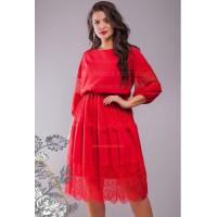 Короткое вечернее платье с рукавом для полных девушек