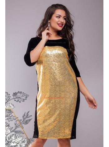 Вечернее бархатное платье в пайетку большого размера